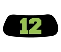 Seattle Seahawks 12th Man Green 4 Pack Eye Black Strips *CLOSEOUT*