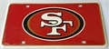 San Francisco 49ers Logo NFL Printed Metal License Plate Tag *NEW*