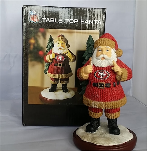 San Francisco 49ers NFL Table Top Resin Santa FIGURINE *CLOSEOUT*