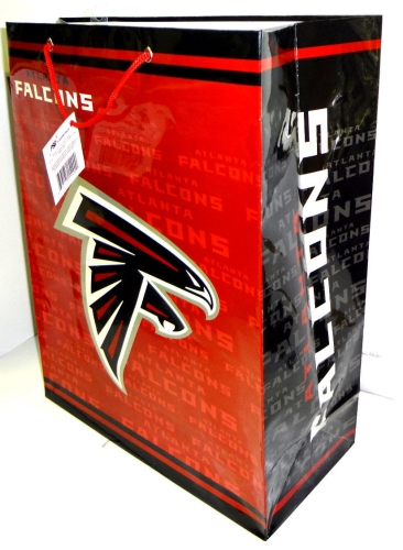 Atlanta Falcons NFL Team Logo Large Gift Bag 12ct Case *CLOSEOUT*