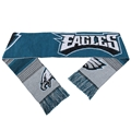 "Philadelphia Eagles Reversible Split Logo NFL 60"" Team Stripe Knit Scarf **SALE**"