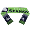 "Seattle Seahawks Reversible Split Logo NFL 60"" Team Stripe Knit Scarf **NEW**"