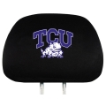 TCU Horned Frogs Embroidered Headrest Covers