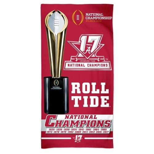 Alabama Crimson Tide 2017 NCAA National Champions 30'' x 60'' Spectra BEACH TOWEL *NEW*