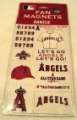 Anaheim Angels MLB Fan Team Magnet Set *CLOSEOUT*