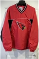 Arizona Cardinals NFL Men's Red Big Logo Light Weight V-neck Pullover Jacket *CLOSEOUT*