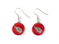 Arizona Cardinals Glitter NFL Silver Dangle Earrings *SALE*