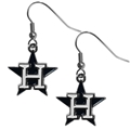Houston Astros MLB Silver Dangle Earrings