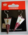 Arizona State Sun Devils NCAA Team Pennant Silver Dangle Earrings *SALE*
