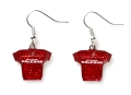 Atlanta Falcons NFL Silver Glitter Jersey Dangle Earrings *SALE*