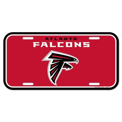Atlanta Falcons NFL Souvenir Plastic License Plate *NEW*
