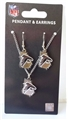 Atlanta Falcons NFL State Design Pendant & Earrings Set *NEW*