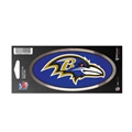"Baltimore Ravens NFL 3"" x 7"" Chrome Decal *SALE*"