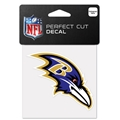 "Baltimore Ravens NFL 4"" x 4"" Perfect Cut Decal"