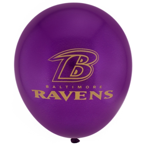 Baltimore Ravens 6 Count NFL 11'' Latex BALLOONs Pack *CLOSEOUT*