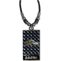"Baltimore Ravens NFL Diamond Plate 20"" Rope Necklace *CLOSEOUT*"