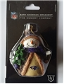 Baltimore Ravens NFL Resin Bark Snowman Ornament *CLOSEOUT*