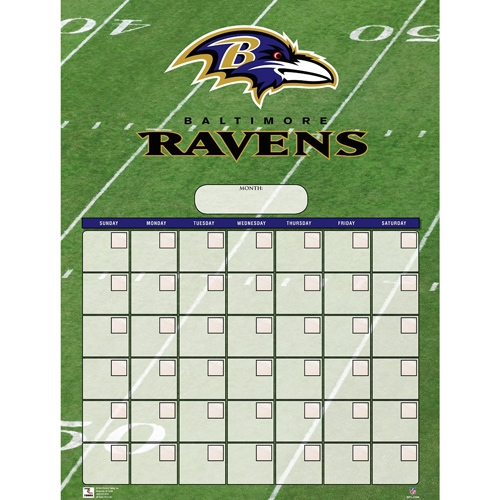 Baltimore Ravens NFL Dry Erase CALENDAR *CLOSEOUT*
