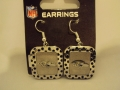 Baltimore Ravens NFL Team Color Polka Dots Silver Dangle Earrings *CLOSEOUT*