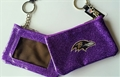 Baltimore Ravens NFL Purple Sparkle Coin Purse Key Ring *NEW*