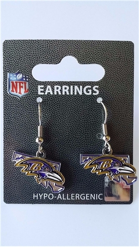 Baltimore Ravens State Design NFL Dangle Earrings *NEW*