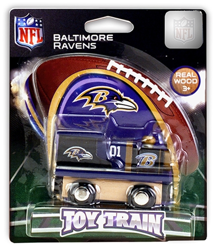 Baltimore Ravens NFL Wooden TOY TRAIN