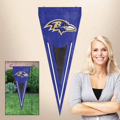 "Baltimore Ravens NFL 34"" x 14"" Embroidered 1-Sided Yard & Wall Pennant Flag **CLOSEOUT**"