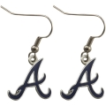 Atlanta Braves MLB Silver Dangle Earrings *CLOSEOUT*