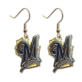 Milwaukee Brewers MLB Silver Dangle Earrings *CLOSEOUT*