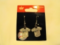 Milwaukee Brewers MLB Silver Glitter Jersey Dangle Earrings *CLOSEOUT*