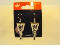 Milwaukee Brewers MLB Team Pennant Silver Dangle Earrings *CLOSEOUT*