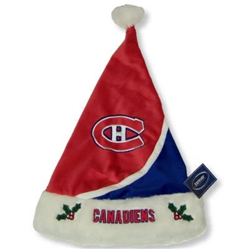 Montreal Canadiens NHL Swoop Colorblock HOLIDAY 18'' Christmas Santa Hat