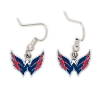 Washington Capitals Logo NHL Silver Dangle Earrings
