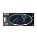 "Carolina Panthers NFL 3"" x 7"" Chrome Decal *SALE*"