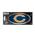 "Chicago Bears NFL 3"" x 7"" Chrome Decal *SALE*"