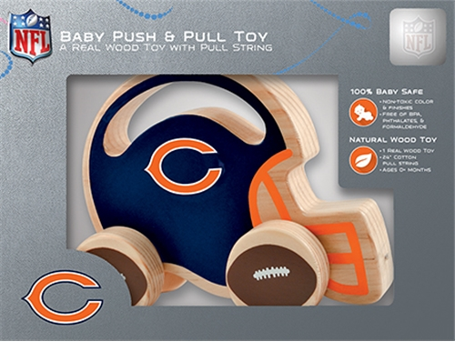 Chicago Bears NFL BABY Push & Pull Wooden TOY *CLOSEOUT*