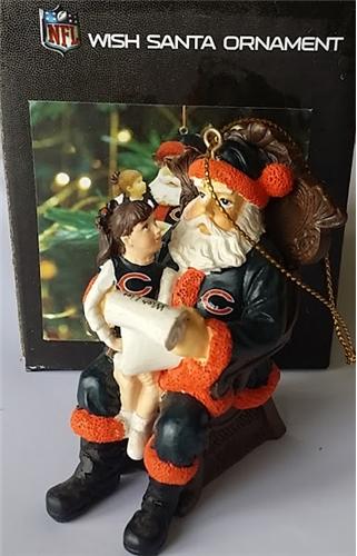 Chicago Bears NFL Resin Wish Santa Ornament *SALE*