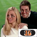 Cincinnati Bengals NFL Vinyl Face Decorations 6 Pack Eye Black Strips
