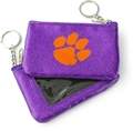 Clemson Tigers NCAA Purple Sparkle Coin Purse *NEW*