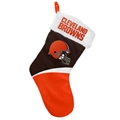 "Cleveland Browns NFL Basic Holiday 17"" Christmas Stocking *NEW*"