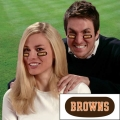 Cleveland Browns NFL Vinyl Face Decorations 6 Pack Eye Black Strips