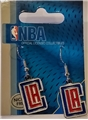 Los Angeles Clippers NBA Silver Dangle Earrings