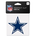 "Dallas Cowboys NFL 4"" x 4"" Perfect Cut Decal"