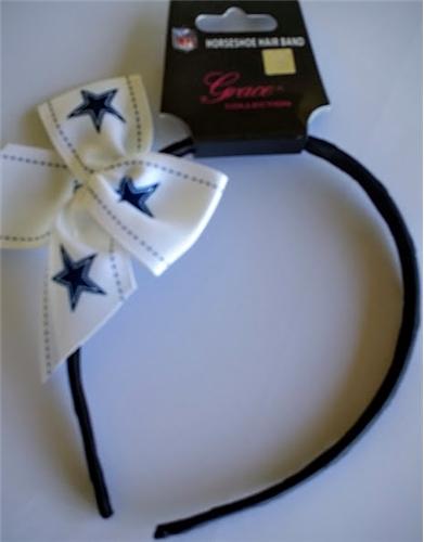 Dallas Cowboys NFL Grace Collection Bow HEADBAND