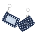 Dallas Cowboys Logo NFL Nylon Polka Dot Coin Purse Key Ring