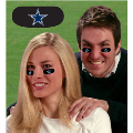 Dallas Cowboys NFL Vinyl Face Decorations 6 Pack Eye Black Strips