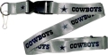 Dallas Cowboys NFL Grey Lanyard