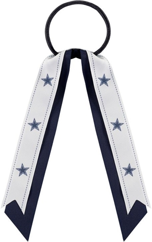 DALLAS COWBOYS NFL Grace Collection Streamer Ponytail Holder