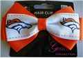 Denver Broncos NFL Grace Collection 2 Tone Bow Hair Clip *CLOSEOUT*