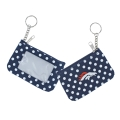 Denver Broncos NFL Nylon Polka Dot Coin Purse Key Ring